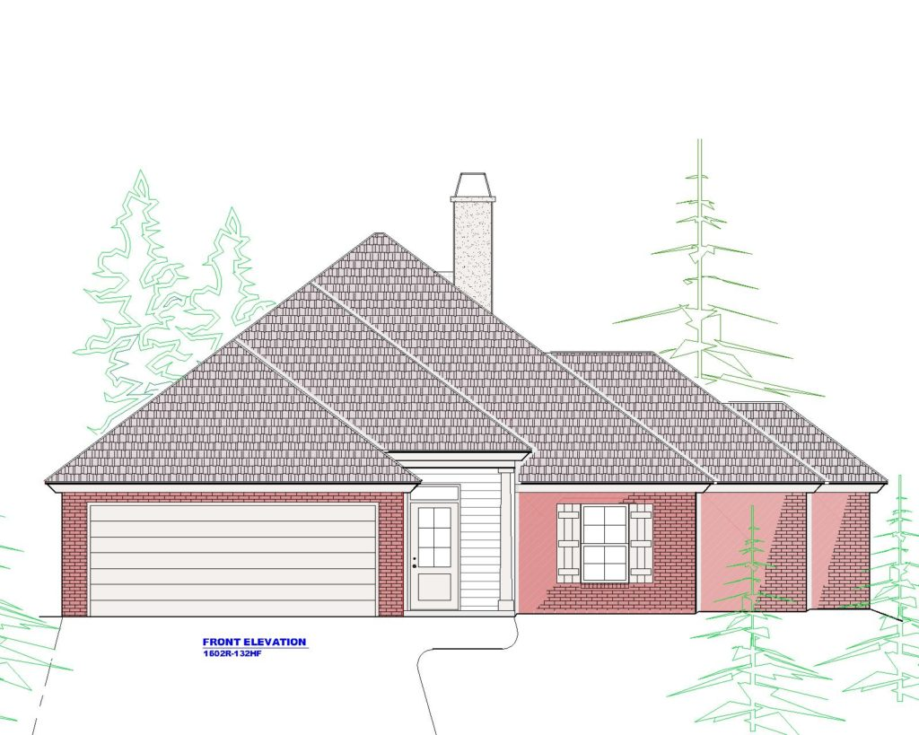 1602r House Plan Front Elevation.