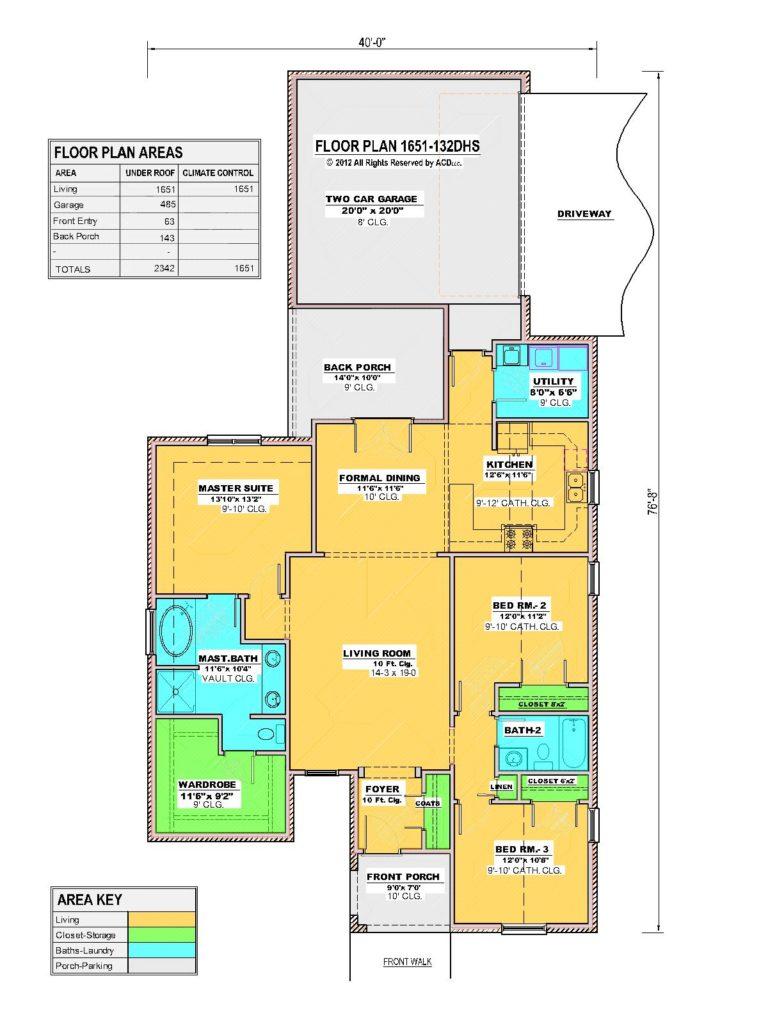 1651-132DHS House Floor Plan