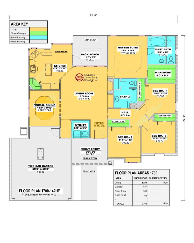 1700 House Floor Plan.