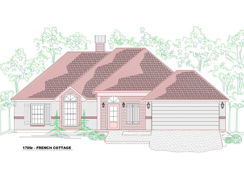 1700r House Front Elevation French Country.
