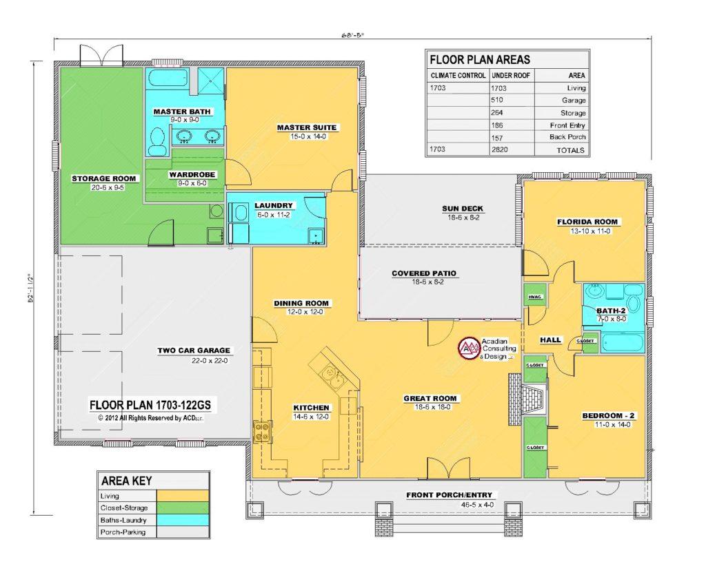 1703-122GS House Floor Plan