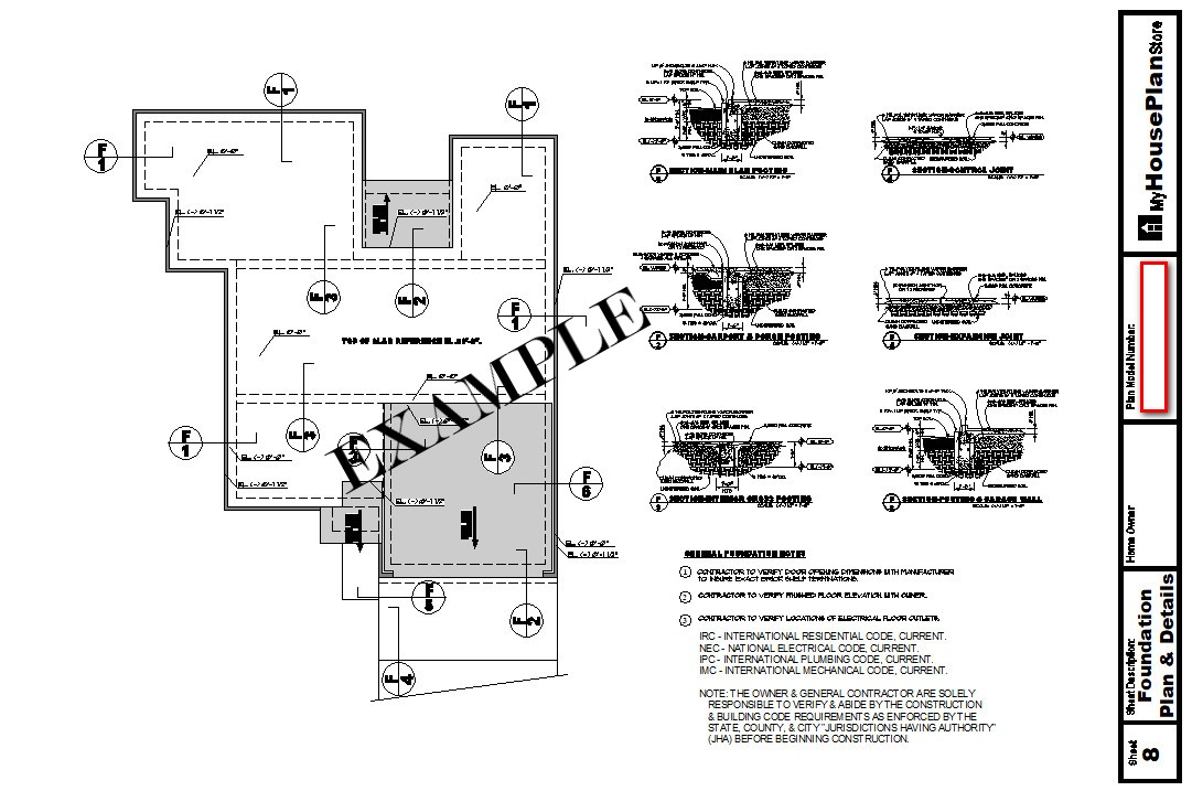 Example House Plan Foundation Plan Sheet