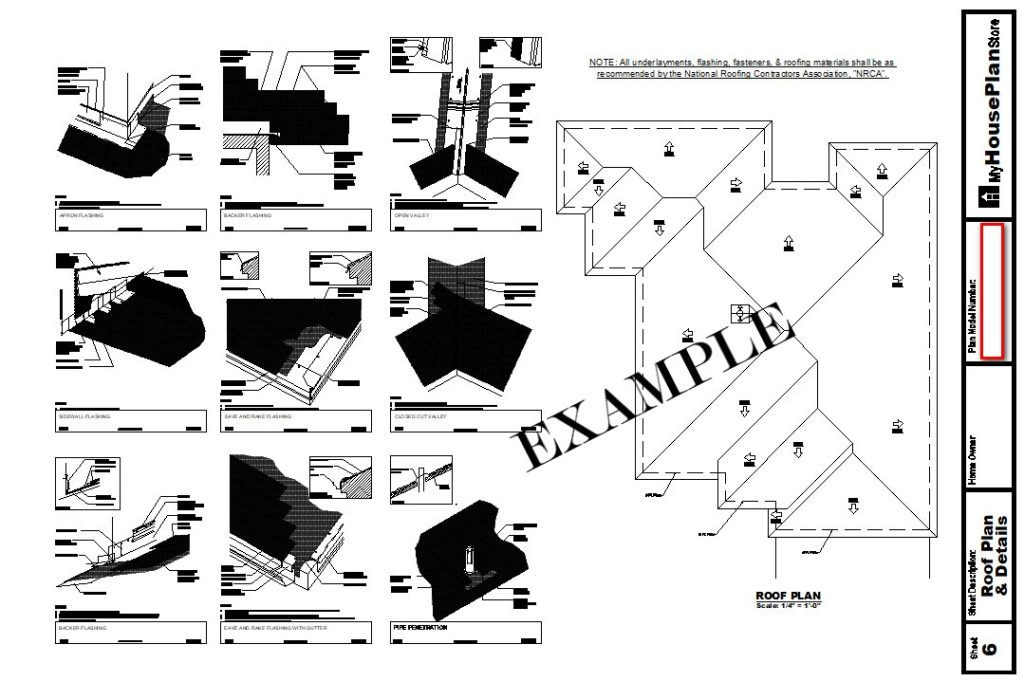 Example House Plan Roof Plan Sheet
