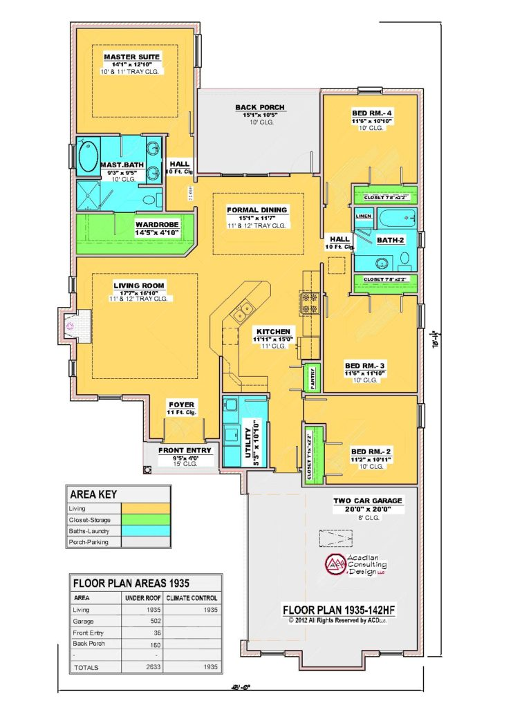 1935-142HF-House Floor Plan