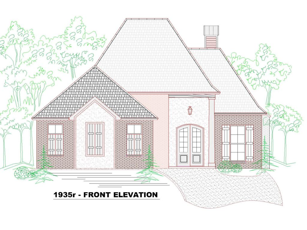 1935r-142HF-House Front Elevation