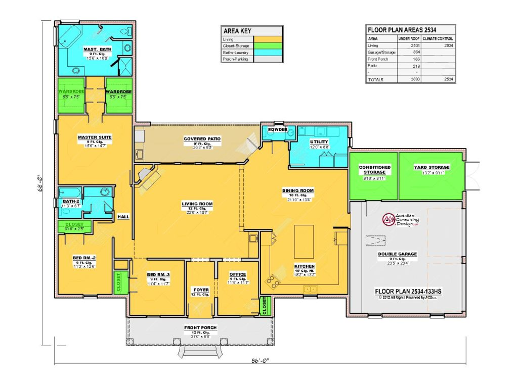 2534 House Floor Plan.