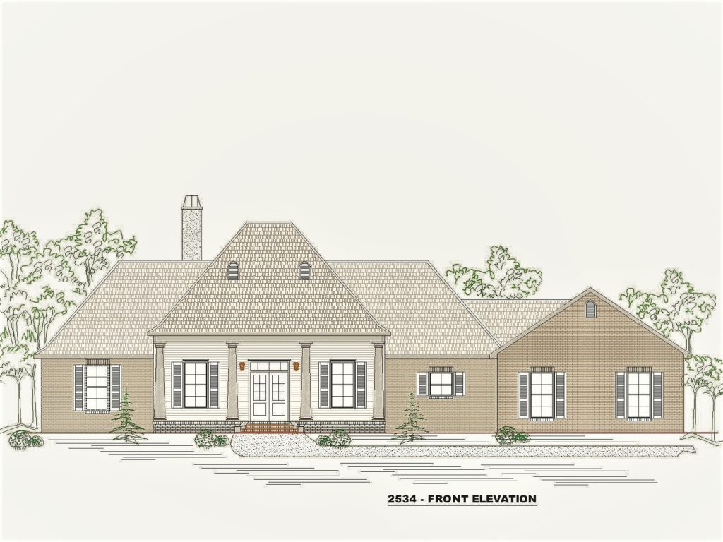 2534 House Front Elevation.