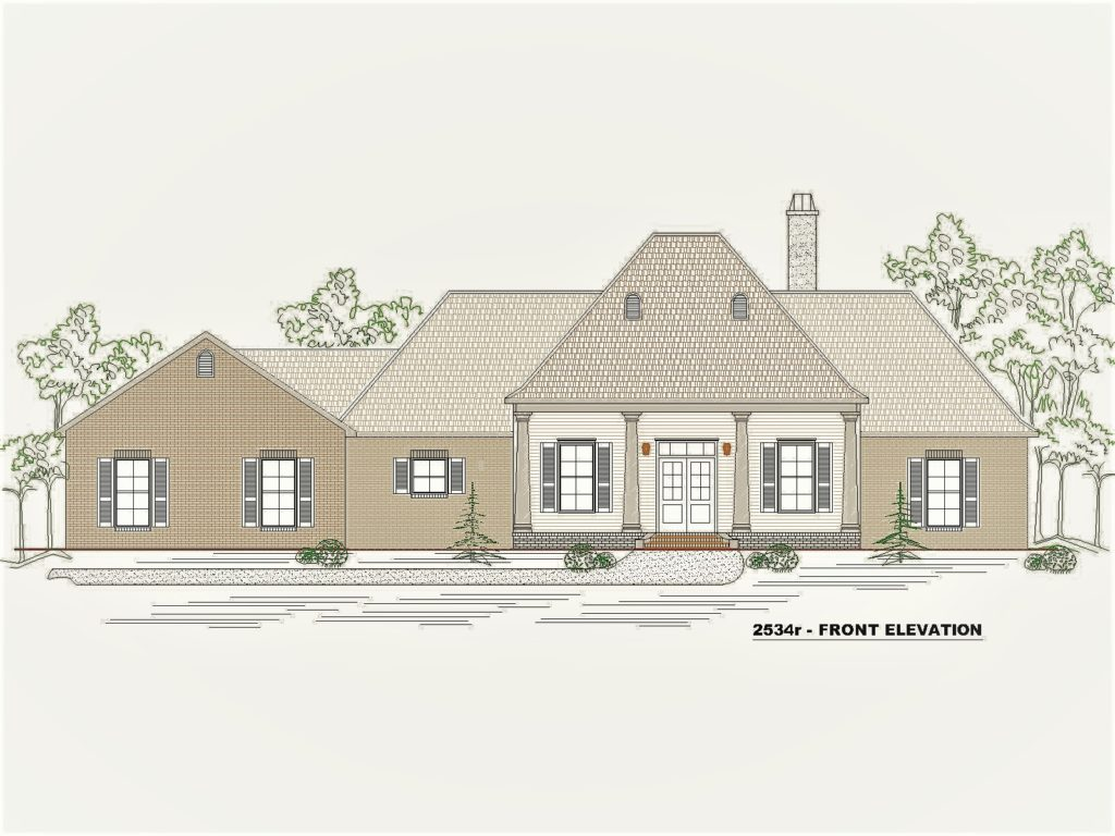 2534r House Front Elevation.